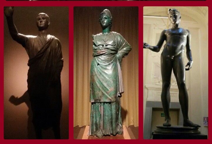 """Arringatore, Minerva e Idolino, insieme alla Testa di Cavallo Medici-Riccardi, sono i Grandi Bronzi attualmente """"in tour"""" con la mostra """"Potere e Pathos"""""""
