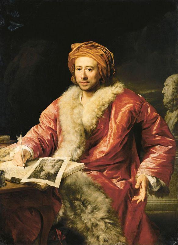 Winckelmann in un ritratto del 1768